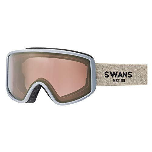 SWANS(スワンズ) スキー スノーボード ゴーグル くもり止め ミラーレンズ メガネ使用可 180 180-MDH_SND サンド/ゴールドミラー×ブライトピンク
