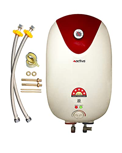 ACTIVA 15 LTR. Instant 3 KVA 5 Star GLASSLINE Geyser Special Anti Rust Coating Body with Temperature Meter, Full ABS...