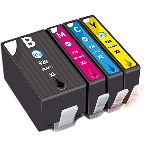 NTT 4 XL Druckerpatronen als Ersatz für HP 920XL 920 XL Multipack Tintenpatronen kompatibel mit HP Officejet 6500 6500A 6000 7000 7500 7500A