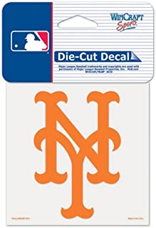 """WinCraft MLB New York Mets 93884010 Perfect Cut Color Decal, 4"""" x 4"""", Black"""