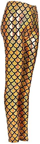 Mymixtrendz meisje zeemeermin glanzend turquoise leggings vis ladder metallic panty kostuum zeemeermin (5-13) -  - 5-13 Years