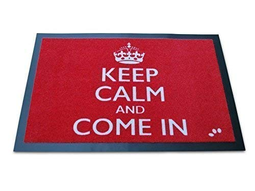 Keep Calm And Come en - Paillasson Rouge
