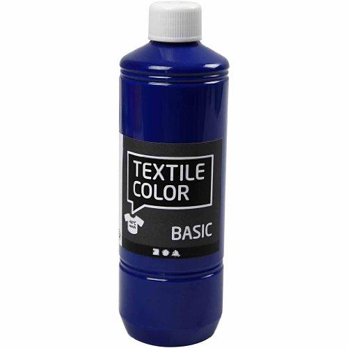 Colore tessile, blu primario, 500 ml.