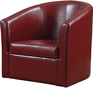 Accent Swivel Chair Red