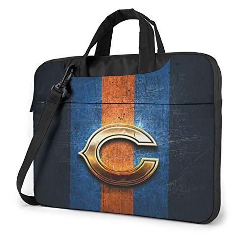 Stockdale Chicago Bears Large Capacity 14 inch Inch Laptop Sleeve Waterproof and Shockproof Computer Shoulder Bag