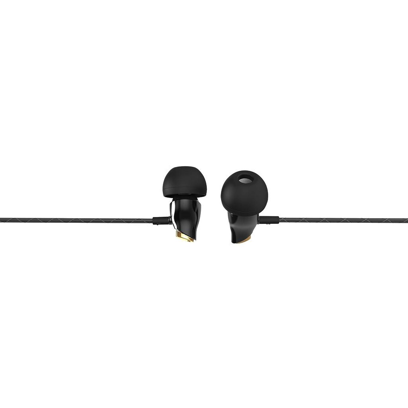 ハンサムにもかかわらず砂B Baosity 耳の低音スポーツのデジタルC型セラミックは、携帯電話のブラック用ヘッドフォンを打ちます - ケーブル長:1.2m