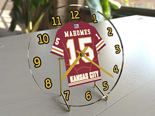 MyShirt123 PATRICK MAHOMES 15 – SHOWTIME – KANSAS CITY CHIEFS NFL AMERICAN Football Clock – LEGGENDE SPORTIVE LIMITED EDITION