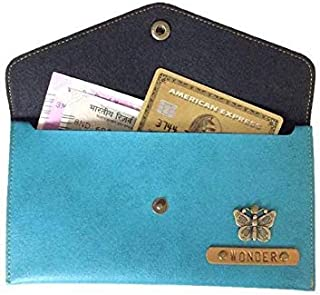Mygiftmart Personalized Women's (Name/Charm) Pu Leather Wallet, Turquoise