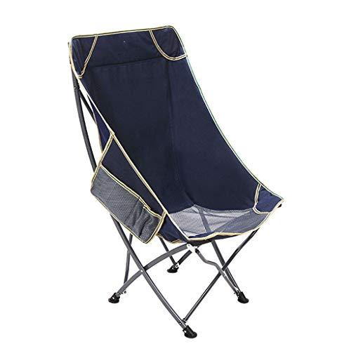 ZPWSNH Klappstuhl für den Außenbereich, tragbar, zusammenklappbar, für Angeln, Freizeit, Strandliege, Siesta-Stuhl, 53 x 55 x 93 cm blau