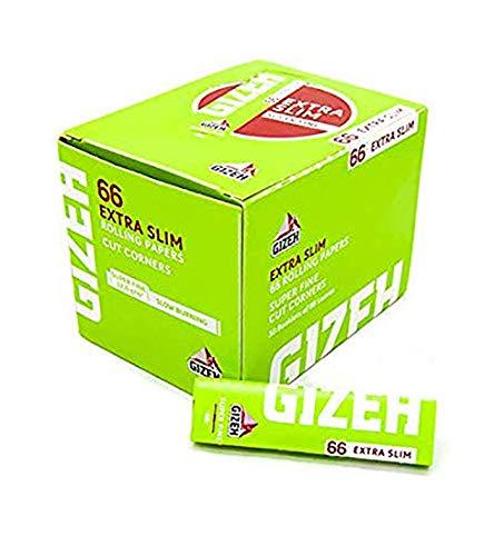 CARTINE GIZEH SUPER FINE EXTRA SLIM CORTE 1 BOX 50 LIBRETTI