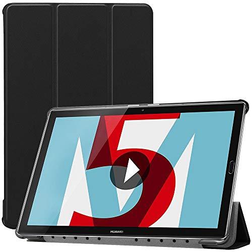 ebestStar - Funda Compatible con Huawei MediaPad M5 10.8 Carcasa Cuero PU y Silicona, Smart Cover Función de Soporte, Reposo Automático, Negro [M5 10.8: 258.7 x 171.8 x 7.3mm, 10.8'']