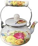 Set da tè Bollitori Bollitori 1 Bollitore spesso 5L Latte Pentola a fondo piatto Fornello a induzione a fiore pieno Caraffa universale