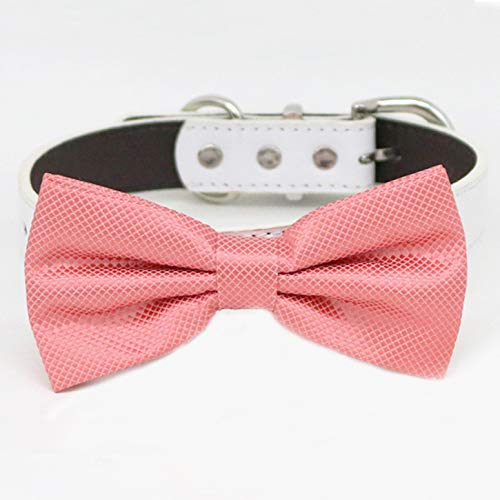 Coral bow tie collar Daily bargain sale Max 49% OFF XS Pup and XXL to adjustable