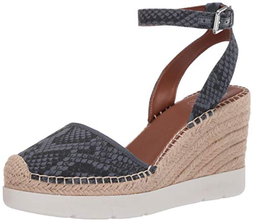 Franco Sarto Women's Mango 2 Espadrille Wedge Sandal, Denim, 8.5 M