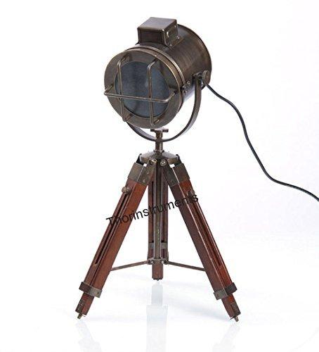 Thor Instruments.Co, Lampada da tavolo a faretto, con supporto a cavalletto in bronzo