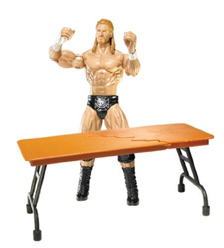 WWE - Triple H - sprechende Figur mit Tisch - BIGTALKIN - FLEXFORCE - World Wrestling Entertainment - Mattel