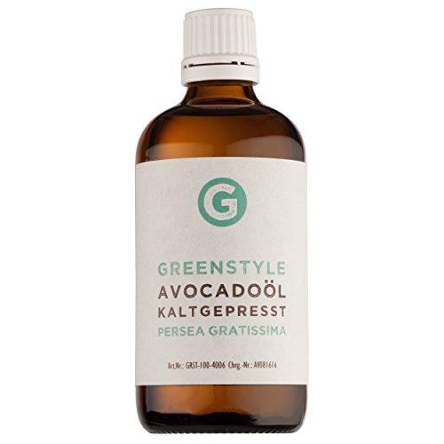 Avocadoöl 100ml - reines Basisöl zur intensiven Hautpflege und Haarpflege von greenstyle
