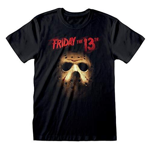 Popgear Friday The 13th Máscara de Jason Camiseta para Hombre Negro 3XL