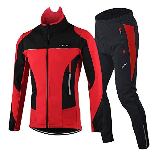 Lixada Hommes Cyclisme Veste Thermique Respirant...
