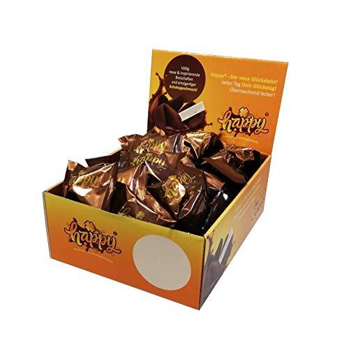"""Glückskekse Happy Schoko Glückskekse """" Vegan, Schoko """" die Partybox 50 Glückskekse in einer Box (1 Box = 50 Kekse a 6g) Japanische Süssigkeiten mal anders!"""
