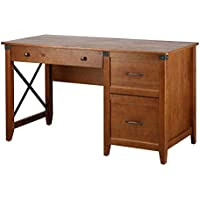 Amazon Brand 53 Inch Ravenna Home Solid Pine Writing Desk (Antique Espresso, RH-WD002-AE)