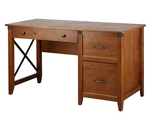 Amazon Brand – Ravenna Home Solid Pine Writing Desk, 53.25