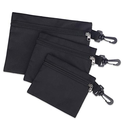 Zipper Tool Pouch Bag, 3 Pack Small Tool Bag, Tool Pouch Organiser Storage Pouch, Multi Purpose Tool Tote Bags Tool Box with Hanging Hook, Water Resistant