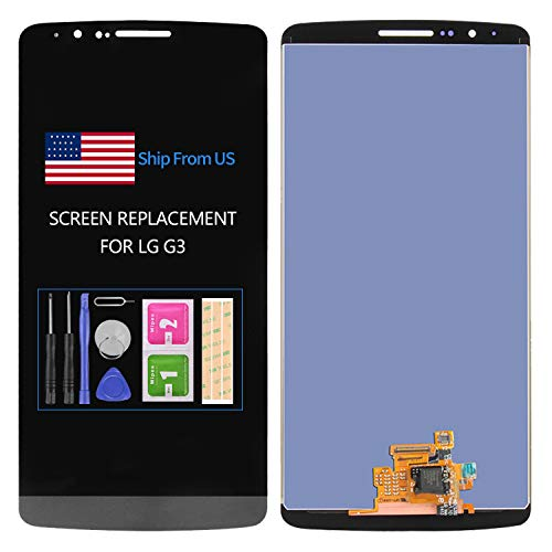 LCD for LG G3 D850 D851 D855 VS985 LS990 Screen Replacement Display Touch Digitizer Glass Sensor Frame Assembly,Repair Parts Kits,Included Tools (Black no Frame)