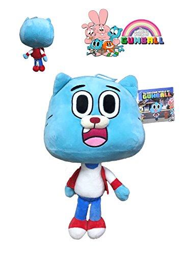GMBALL Lo Straordinario Mondo di Gumball - Peluche Gumball Personaggi Blu 40cm - buona qualità - Azul-