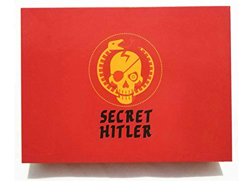 VJUKUBWINE RED Secret Hitler Board Game Anti-Human Card Secret Hitler English Edition Puzzle Game A Hidden Identity Card Games for Party Family and Friends