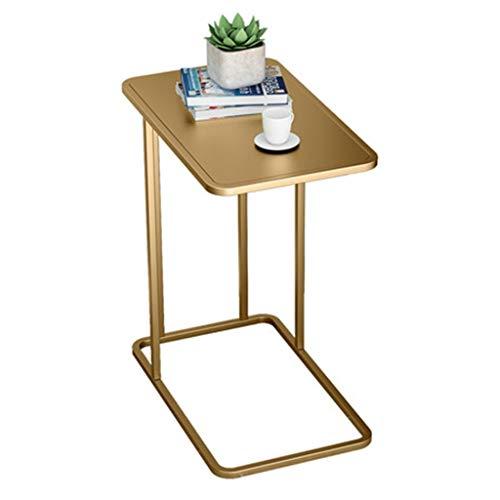 Tables basses Petite Table Carrée Mobile Canapé Côté Armoire Latérale Coin Salon Table D'appoint Cadeau (Color : Gold, Size : 50 * 30 * 58cm)