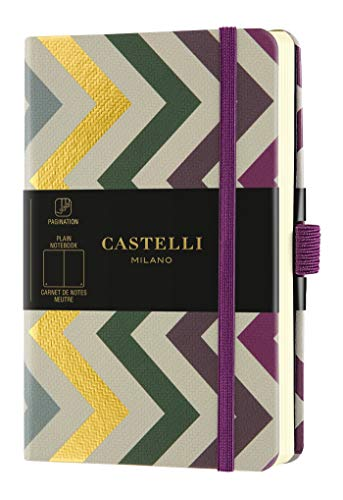 Castelli Milano ORO Frets Taccuino 9x14 cm Pagina Bianca Copertina Rigida 192 Pag