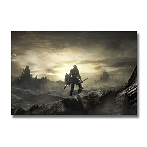 A&D Dark SoulSpiel PosterWandkunstDruck GemäldeDekoration Bilder Tapete Wohnzimmer Dekor Druck auf Leinwand -60x90cm Kein Rahmen