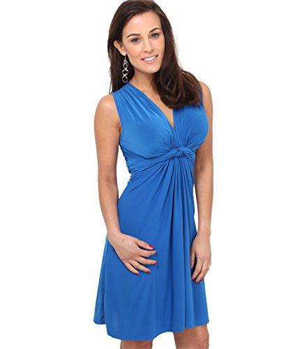 KRISP 9354-ROY-16, Vestido Corto Patinadora Vuelo Fruncido Busto, Azul Eléctrico (9354), 44