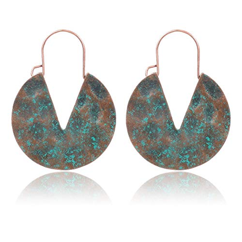 ZRDMN Stud Earrings Dangler Joyas Para Mujeres Pendientes en forma de mariquita de siete estrellas Pendientes de viento nacional Pendientes B
