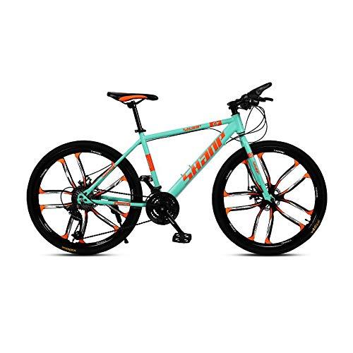 Elektrofahrrad 26-Zoll-Faltreifen-Fatbike-Snowbike-Mountainbikes, Hardtail-Mountainbike Mit Doppelscheibenbremse Für Männer, Verstellbarer Fahrradsitz, E-Bike Mit Hohem Kohlenstoffrahmen,C-6 Spoke-27 Speed