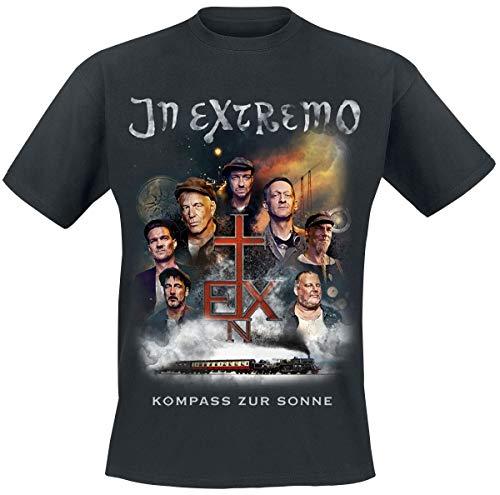 In Extremo Kompass zur Sonne Männer T-Shirt schwarz L 100% Baumwolle Band-Merch, Bands, Nachhaltigkeit