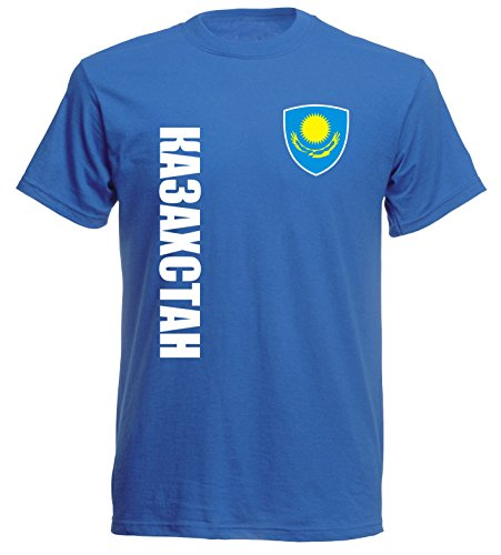 aprom Kasachstan T-Shirt TS-10 royal Trikot (L)