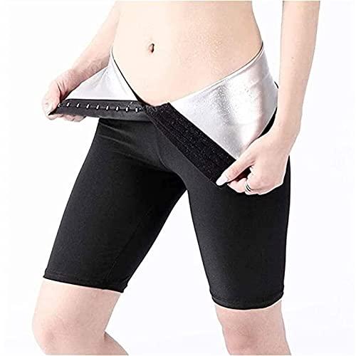 Traje de Sauna de Sudor Caliente de Neopreno para Mujer Que Adelgaza Los Pantalones Quemador de Grasa (Color : A-Shorts, Size : L)