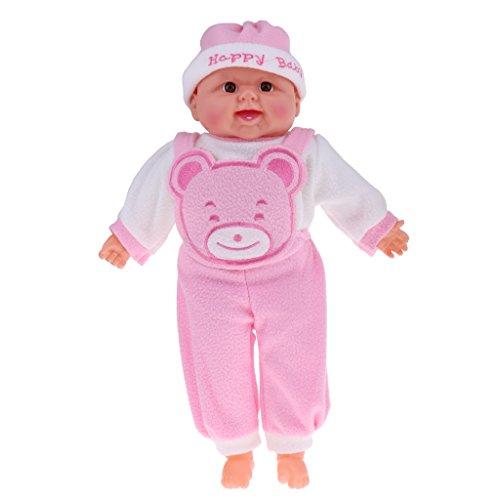 Fenteer Lebensechte Junge Babypuppe Neugeborenes Funktionspuppe - 52 cm - Pink