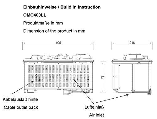 EWT ommod OMC 400de LL Opti de Myst 3d eléctrico Uso: Pie óxido umlaufend, gezackt