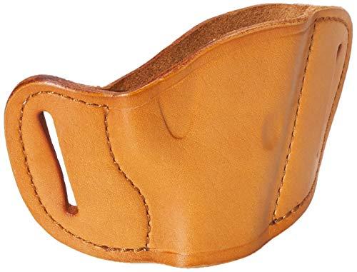 Bulldog Cases Tan Molded Leather Belt Slide Holster (Large)