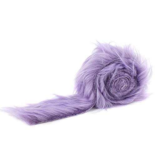 Barcelonetta | Faux Fur Fabric Strip | Shaggy Fur Fabric Trim Roll | Craft, Costume, Decoration, Collar, Tail (Lavender, 1.5 Yards X 2')