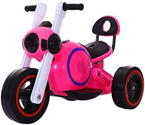MEILA Raumfürttechnik Hund Kinder Elektro Motorrad Neue M er Und Frauen Baby Dreirad Fotostudio Foto Spiel Geschenk Auto Spielzeugauto (Farbe   rot)