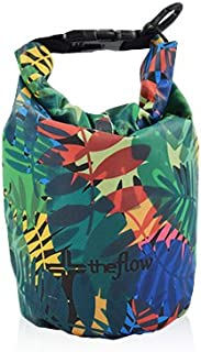 the flow Dry Bag, 2L, 5L, 10L Waterproof Sacks, Keeps Your Gear Dry for Outdoor, Travel, Boating, Hiking, Camping, Kayaking, Rafting, Diving, Beach and Fishing, Tropical Print