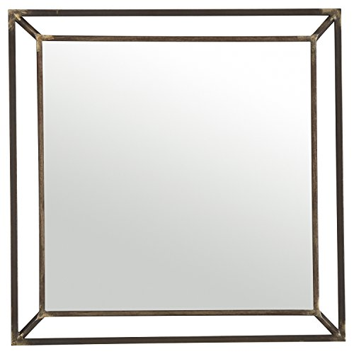 Iron Metal Beveled Metal Mirror, 24
