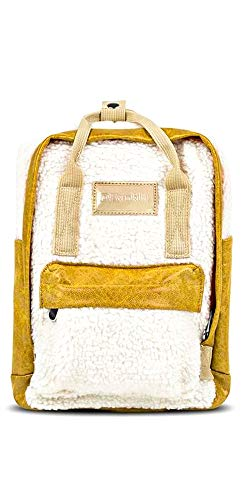 D. Franklin Abby Backpack Fleece White, Sac Dos Femme, Jaune (Mostaza), 12x35x24 Centimeters (W x H x L)