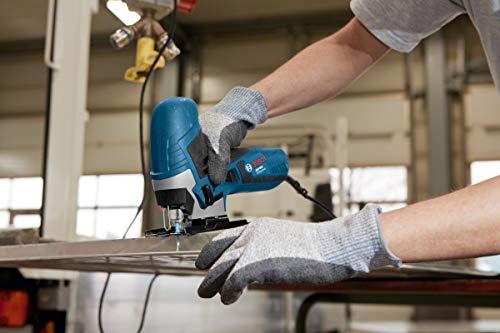 Bosch Professional 0601E8G001 Seghetto Alternativo GST 90 E, 1 Lama, Protezione Antischegge, profondità di Taglio nel Legno: 90 mm, 650 W, 230 V, Multicolore