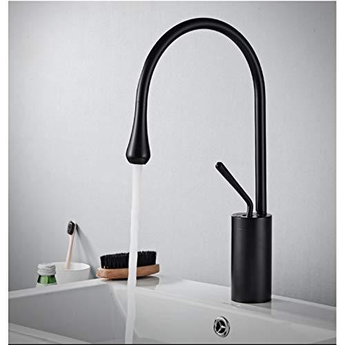 BAOJIAN Nordic Style Modern Black Brass Bathroom Basin Mixer Tap Artistic Design Pont Mont Blanc Basin Faucets