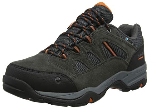 HI-TEC BANDERRA II Low WP, Stivali da Escursionismo Uomo, Grigio (Charcoal/Graphite/Burnt Orange 51), 44 EU